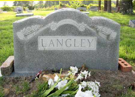 LANGLEY, JAMES AND M. E. - White County, Arkansas | JAMES AND M. E. LANGLEY - Arkansas Gravestone Photos
