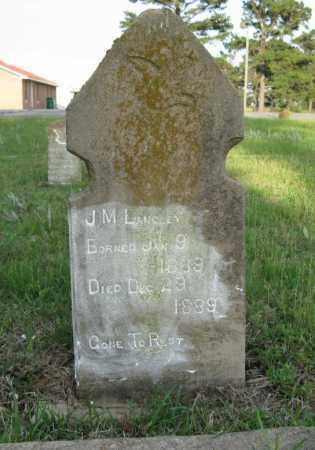 LANGLEY, J. M. - White County, Arkansas | J. M. LANGLEY - Arkansas Gravestone Photos