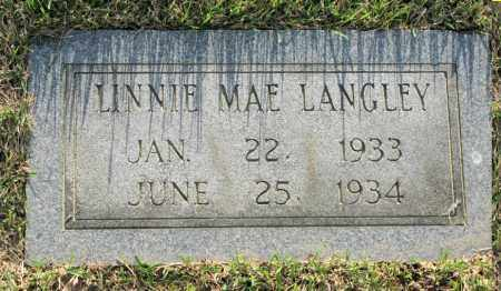 LANGLEY, LINNIE MAE - White County, Arkansas | LINNIE MAE LANGLEY - Arkansas Gravestone Photos