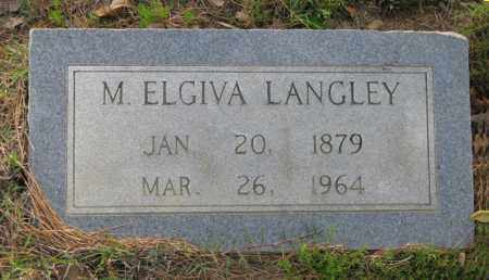 WRIGHT LANGLEY, MARY C. ELGIVA - White County, Arkansas | MARY C. ELGIVA WRIGHT LANGLEY - Arkansas Gravestone Photos