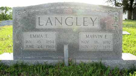 SELVINGE LANGLEY, EMMA E. - White County, Arkansas | EMMA E. SELVINGE LANGLEY - Arkansas Gravestone Photos