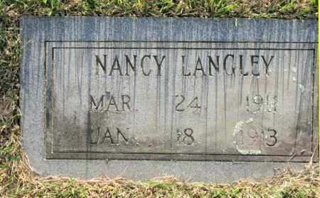 LANGLEY, NANCY - White County, Arkansas | NANCY LANGLEY - Arkansas Gravestone Photos
