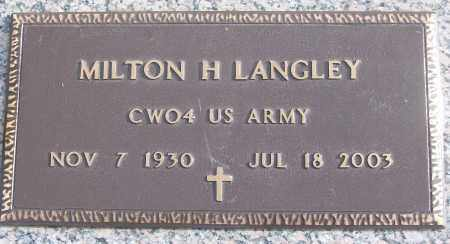 LANGLEY (VETERAN), MILTON H - White County, Arkansas | MILTON H LANGLEY (VETERAN) - Arkansas Gravestone Photos