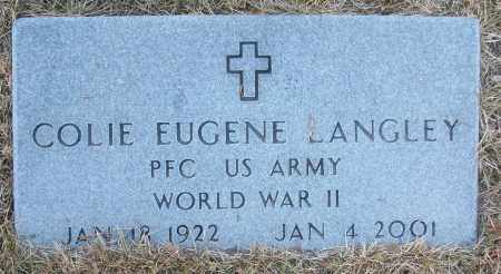 LANGLEY (VETERAN WWII), COLIE EUGENE - White County, Arkansas | COLIE EUGENE LANGLEY (VETERAN WWII) - Arkansas Gravestone Photos