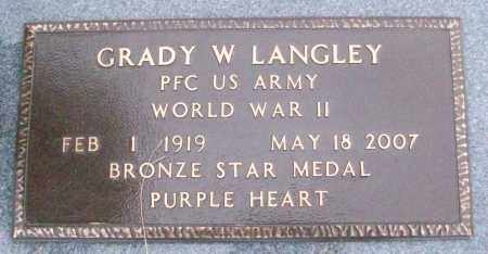LANGLEY (VETERAN WWII), GRADY W - White County, Arkansas | GRADY W LANGLEY (VETERAN WWII) - Arkansas Gravestone Photos