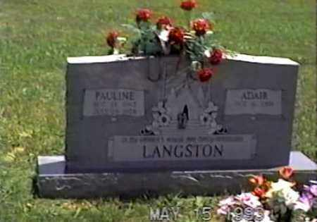 LANGSTON, CHESTER ADAIR - White County, Arkansas | CHESTER ADAIR LANGSTON - Arkansas Gravestone Photos