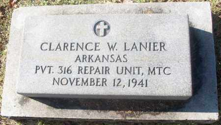 LANIER  (VETERAN), CLARENCE W - White County, Arkansas | CLARENCE W LANIER  (VETERAN) - Arkansas Gravestone Photos