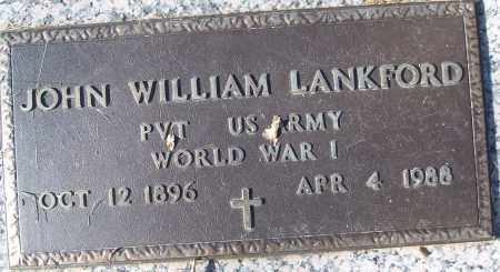 LANKFORD (VETERAN WWI), JOHN WILLIAM - White County, Arkansas | JOHN WILLIAM LANKFORD (VETERAN WWI) - Arkansas Gravestone Photos