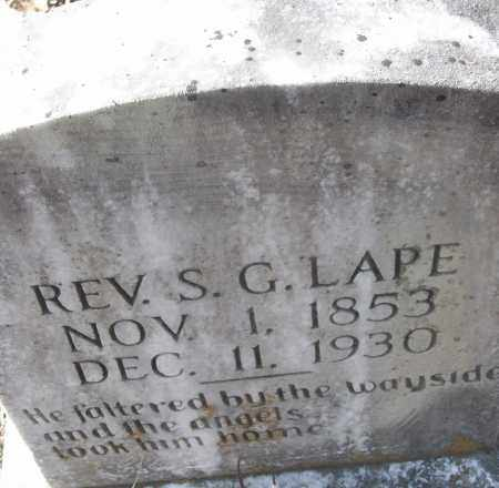 LAPE REV, S.G. - White County, Arkansas | S.G. LAPE REV - Arkansas Gravestone Photos
