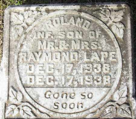 LAPE, ROLAND - White County, Arkansas | ROLAND LAPE - Arkansas Gravestone Photos