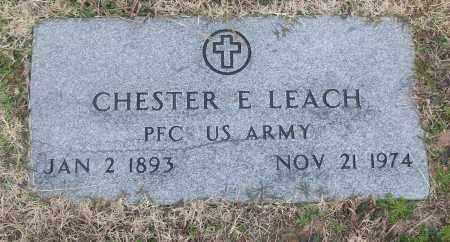 LEACH (VETERAN), CHESTER E - White County, Arkansas | CHESTER E LEACH (VETERAN) - Arkansas Gravestone Photos