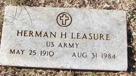 LEASURE (VETERAN), HERMAN H - White County, Arkansas | HERMAN H LEASURE (VETERAN) - Arkansas Gravestone Photos