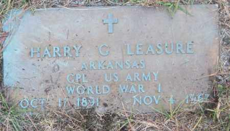 LEASURE (VETERAN WWI), HARRY G - White County, Arkansas | HARRY G LEASURE (VETERAN WWI) - Arkansas Gravestone Photos