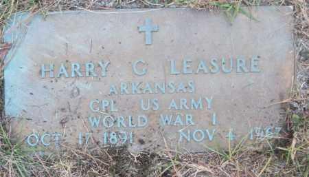 LEASURE (VETERAN WWI), HARRY G - White County, Arkansas | HARRY G LEASURE (VETERAN WWI) - Arkansas Gravestone Photos