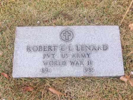 LENARD  (VETERAN WWII), ROBERT E. L. - White County, Arkansas | ROBERT E. L. LENARD  (VETERAN WWII) - Arkansas Gravestone Photos