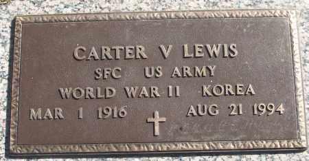 LEWIS (VETERAN 2 WARS), CARTER V - White County, Arkansas | CARTER V LEWIS (VETERAN 2 WARS) - Arkansas Gravestone Photos