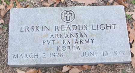 LIGHT (VETERAN KOR), ERSKIN READUS - White County, Arkansas | ERSKIN READUS LIGHT (VETERAN KOR) - Arkansas Gravestone Photos