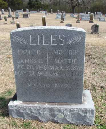 "LILES, MARTHA JANE ""MATTIE"" - White County, Arkansas 