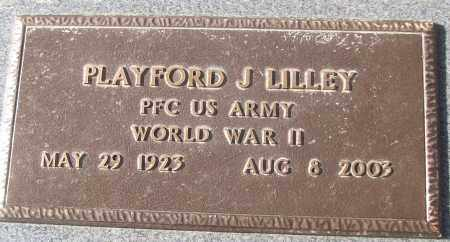 LILLEY (VETERAN WWII), PLAYFORD J - White County, Arkansas | PLAYFORD J LILLEY (VETERAN WWII) - Arkansas Gravestone Photos