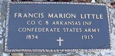 LITTLE (VETERAN CSA), FRANCIS MARION - White County, Arkansas | FRANCIS MARION LITTLE (VETERAN CSA) - Arkansas Gravestone Photos