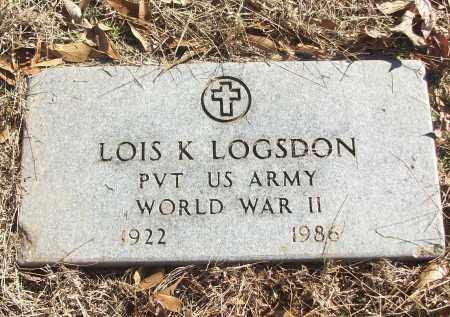 LOGSDON (VETERAN WWII), LOIS K - White County, Arkansas | LOIS K LOGSDON (VETERAN WWII) - Arkansas Gravestone Photos