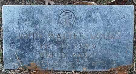 LOUKS (VETERAN WWII), JOHN WALTER - White County, Arkansas | JOHN WALTER LOUKS (VETERAN WWII) - Arkansas Gravestone Photos