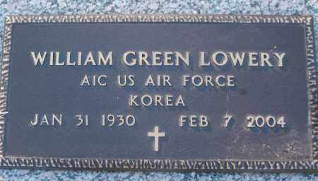 LOWERY (VETERAN KOR), WILLIAM GREEN - White County, Arkansas | WILLIAM GREEN LOWERY (VETERAN KOR) - Arkansas Gravestone Photos