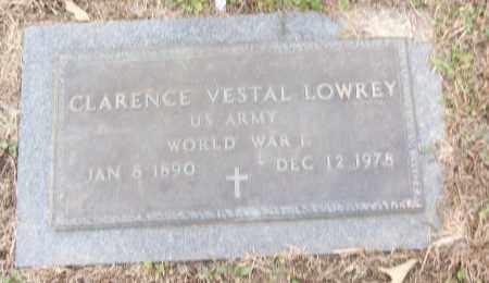 LOWREY (VETERAN WWI), CLARENCE VESTAL - White County, Arkansas | CLARENCE VESTAL LOWREY (VETERAN WWI) - Arkansas Gravestone Photos