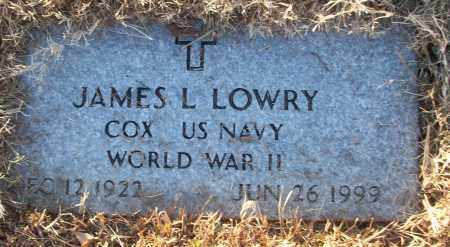 LOWRY (VETERAN WWII), JAMES L - White County, Arkansas   JAMES L LOWRY (VETERAN WWII) - Arkansas Gravestone Photos