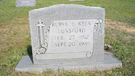 LUNSFORD, RUBYE L - White County, Arkansas | RUBYE L LUNSFORD - Arkansas Gravestone Photos