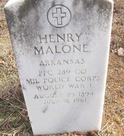 MALONE (VETERAN WWI), HENRY - White County, Arkansas | HENRY MALONE (VETERAN WWI) - Arkansas Gravestone Photos