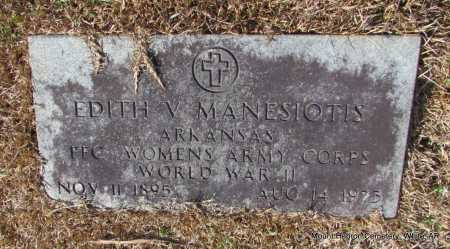 MANESIOTIS (VETERAN WWII), EDITH V - White County, Arkansas | EDITH V MANESIOTIS (VETERAN WWII) - Arkansas Gravestone Photos