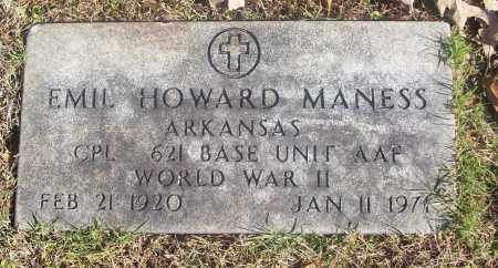 MANESS  (VETERAN WWII), EMIL HOWARD - White County, Arkansas | EMIL HOWARD MANESS  (VETERAN WWII) - Arkansas Gravestone Photos