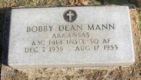 MANN  (VETERAN), BOBBY DEAN - White County, Arkansas | BOBBY DEAN MANN  (VETERAN) - Arkansas Gravestone Photos