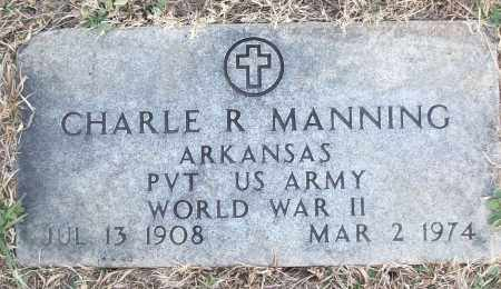 MANNING (VETERAN WWII), CHARLE R - White County, Arkansas | CHARLE R MANNING (VETERAN WWII) - Arkansas Gravestone Photos