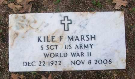 MARSH  (VETERAN WWII), KILE F - White County, Arkansas | KILE F MARSH  (VETERAN WWII) - Arkansas Gravestone Photos