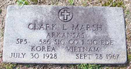 MARSH (VETERAN 2 WARS), CLARK L - White County, Arkansas | CLARK L MARSH (VETERAN 2 WARS) - Arkansas Gravestone Photos