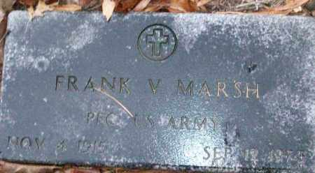MARSH (VETERAN), FRANK V - White County, Arkansas | FRANK V MARSH (VETERAN) - Arkansas Gravestone Photos