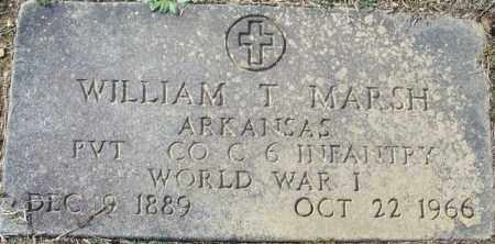 MARSH (VETERAN WWI), WILLIAM T - White County, Arkansas | WILLIAM T MARSH (VETERAN WWI) - Arkansas Gravestone Photos