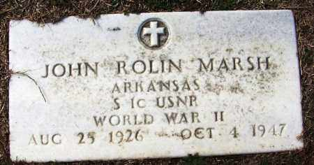 MARSH (VETERAN WWII), JOHN ROLLIN - White County, Arkansas | JOHN ROLLIN MARSH (VETERAN WWII) - Arkansas Gravestone Photos