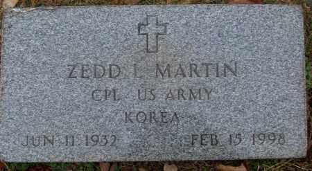 MARTIN (VETERAN KOR), ZEDD L - White County, Arkansas | ZEDD L MARTIN (VETERAN KOR) - Arkansas Gravestone Photos