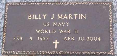 MARTIN (VETERAN WWII), BILLY J - White County, Arkansas | BILLY J MARTIN (VETERAN WWII) - Arkansas Gravestone Photos