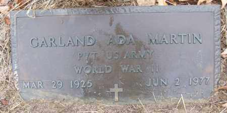MARTIN (VETERAN WWII), GARLAND ADA - White County, Arkansas | GARLAND ADA MARTIN (VETERAN WWII) - Arkansas Gravestone Photos
