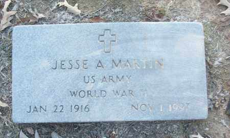 MARTIN (VETERAN WWII), JESSE A - White County, Arkansas | JESSE A MARTIN (VETERAN WWII) - Arkansas Gravestone Photos