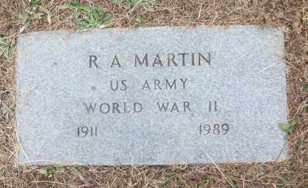 MARTIN (VETERAN WWII), R A - White County, Arkansas | R A MARTIN (VETERAN WWII) - Arkansas Gravestone Photos