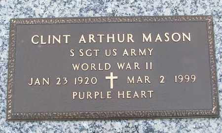 MASON (VETERAN WWII), CLINT ARTHUR - White County, Arkansas | CLINT ARTHUR MASON (VETERAN WWII) - Arkansas Gravestone Photos