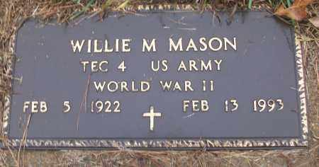 MASON (VETERAN WWII), WILLIE M - White County, Arkansas | WILLIE M MASON (VETERAN WWII) - Arkansas Gravestone Photos