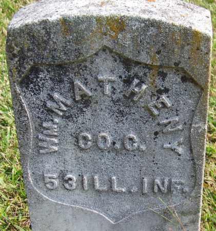 MATHENY (VETERAN UNION), WILLIAM - White County, Arkansas | WILLIAM MATHENY (VETERAN UNION) - Arkansas Gravestone Photos