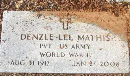 MATHIS (VETERAN WWII), DENZLE LEE - White County, Arkansas | DENZLE LEE MATHIS (VETERAN WWII) - Arkansas Gravestone Photos
