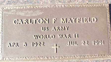 MAYFIELD (VETERAN WWII), CARLTON F - White County, Arkansas | CARLTON F MAYFIELD (VETERAN WWII) - Arkansas Gravestone Photos